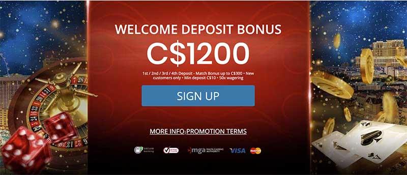 Royal Vegas sign up bonus offer
