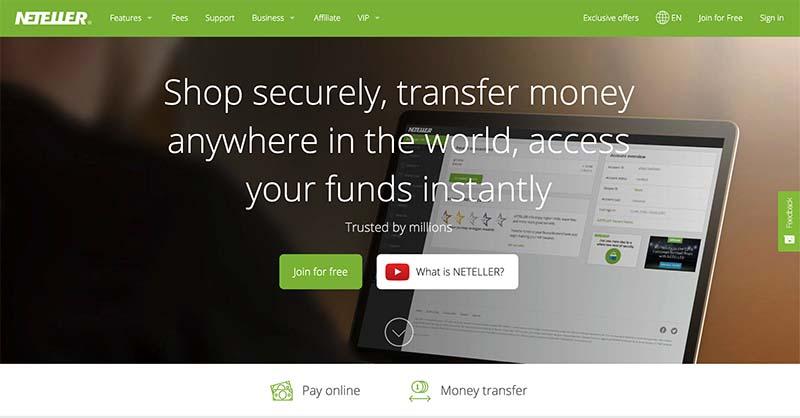Neteller online casino deposits