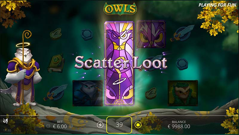 Owls slot game by Nolimit City