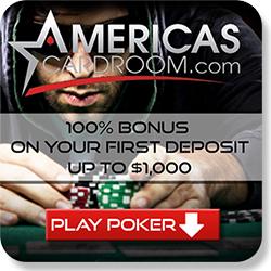 Americas Cardroom sign up bonus
