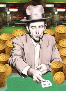 Playing online poker with bitcoin was easy for this man