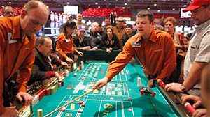 Craps is commonly found at casinos across the world