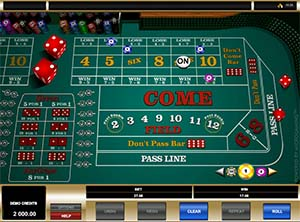 Craps - Microgaming RNG version