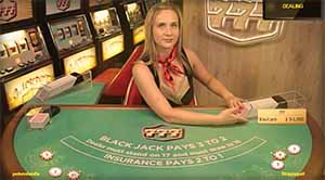 Live Las Vegas blackjack games