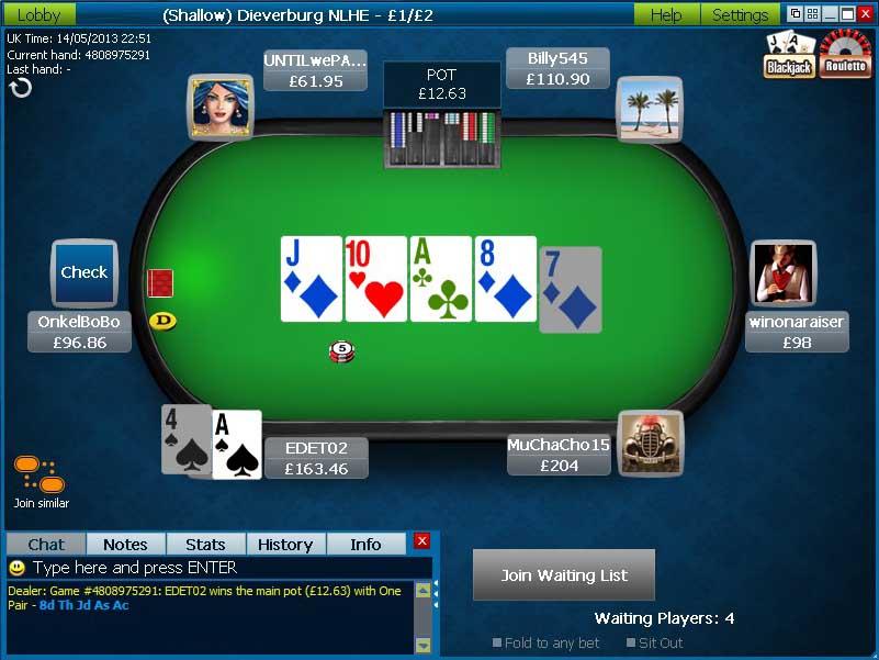 William Hill Poker online
