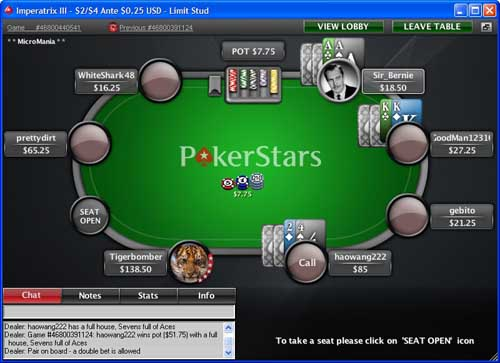 Play 7 Card Stud online for real money