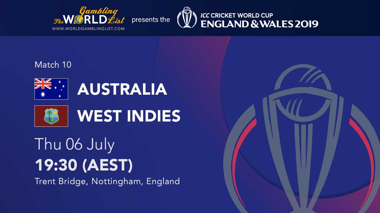ICC World Cup preview - Australia vs West Indies predictions - June 6