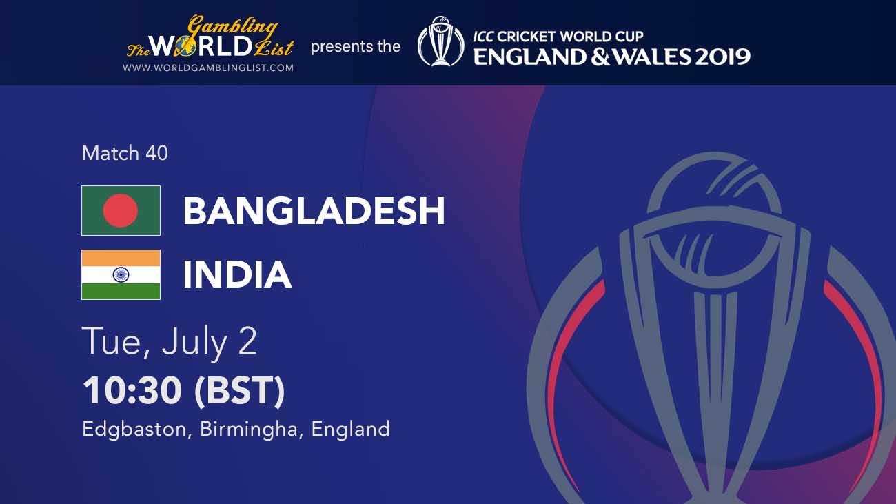Bangladesh vs India betting prediction, July 2 2019