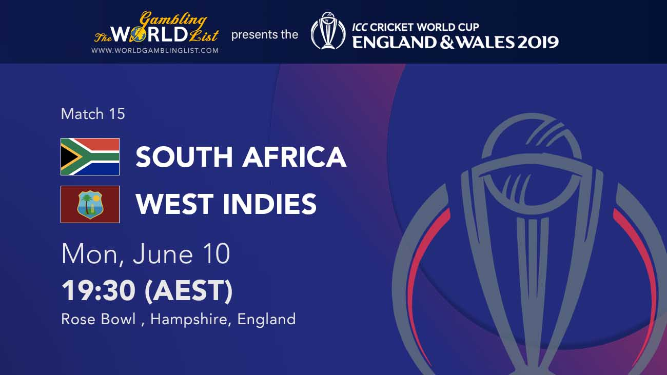 West Indies v South Africa betting predictions - icc world cup
