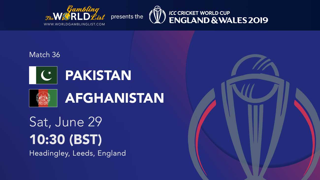 ICC World Cup Betting - Pakistan v Afghanistan betting preview