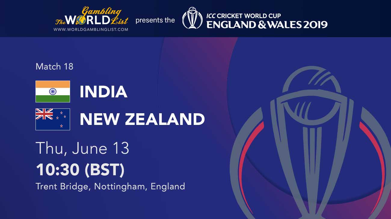 India vs New Zealand betting tips - ICC World Cup 2019