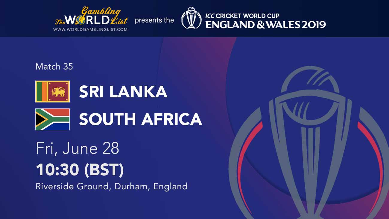 Sri Lanka vs South Africa betting predictions - cricket world cup