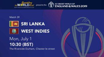 Sri Lanka vs West Indies prediction, best bets, Cricket World Cup 2019