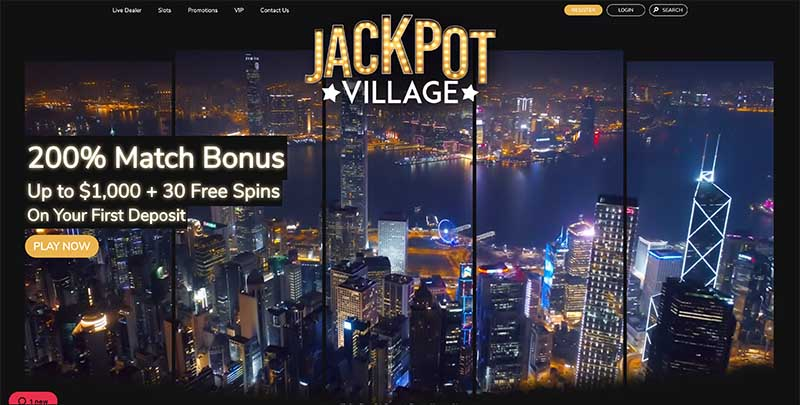 Jackpot Village casino - new accounts and login