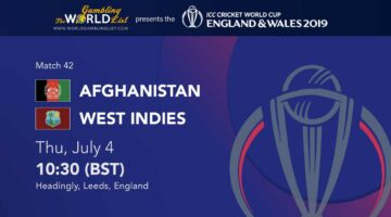 Afghanistan vs West Indies betting predictions - ICC Cricket World Cup 2019
