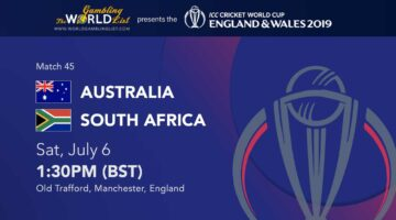 Austraila vs South Africa betting prediction, ICC World Cup 2019 betting guide