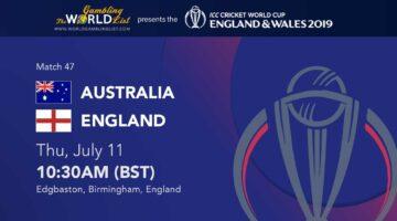 Australia vs England prediction - Cricket World Cup 2019 betting preview