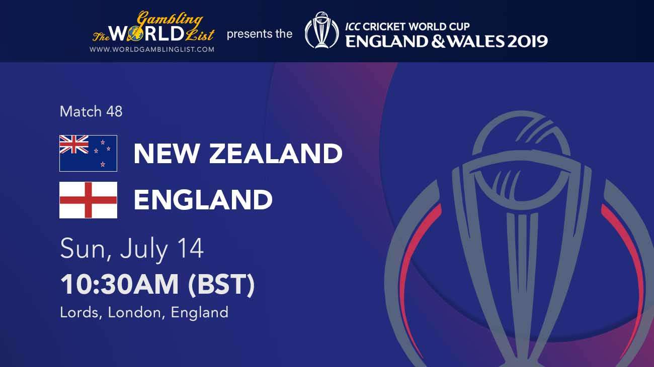 New Zealand vs England betting prediction, ICC World Cup final betting tips