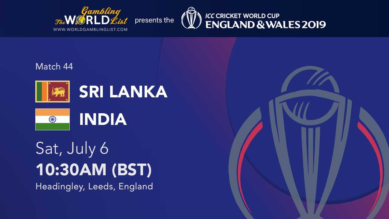 Sri Lanka vs India predictions - ICC World Cup 44/48