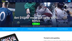 The betting site william hill accepts bets from Canada