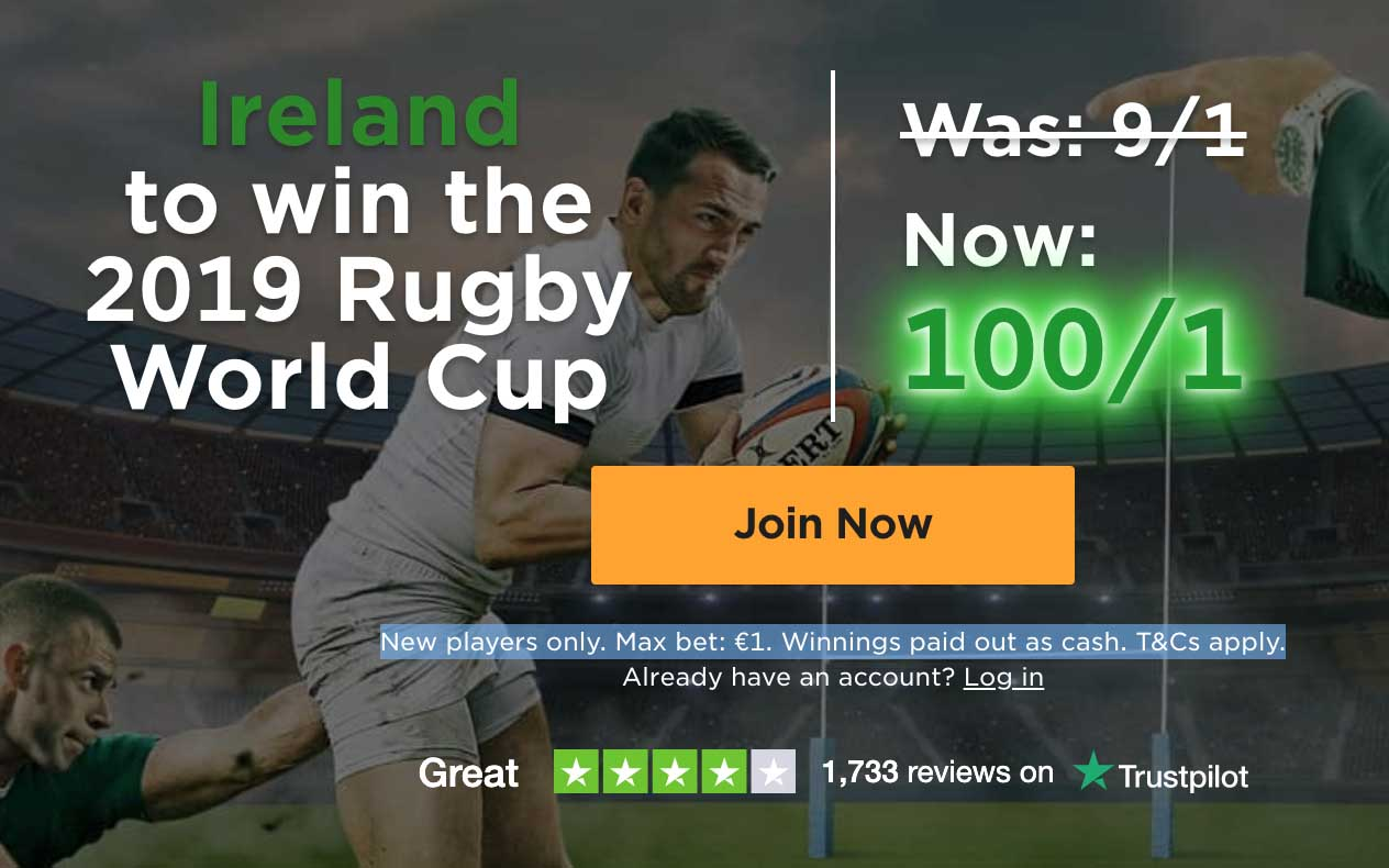 Mr Green odds boost promotion - Rugby World Cup 2019