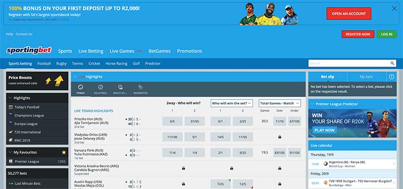 SportingBet South Africa login