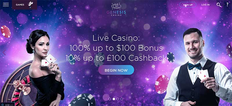 Genesis casino review and history
