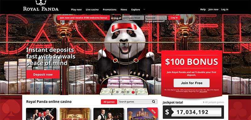 Royal Panda Casino review and bonus