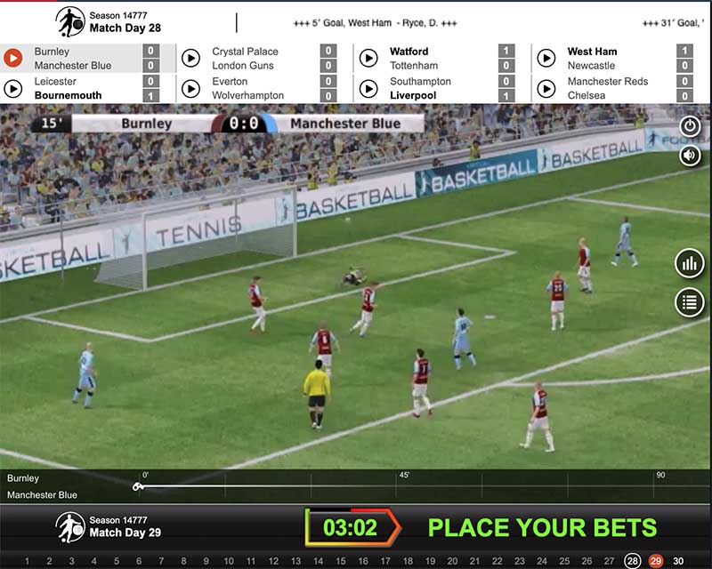 Virtual sports betting at Rabona.com