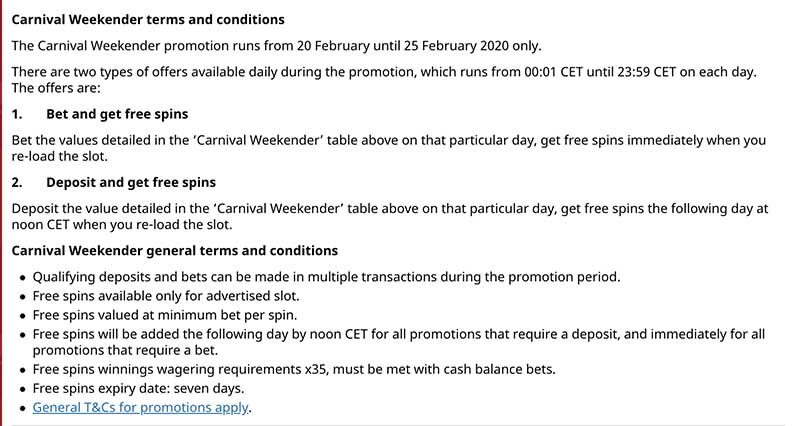 Royal Panda Carnival Weekender slots promotion