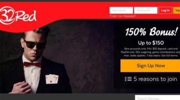 32Red Casino sign up bonus Canada