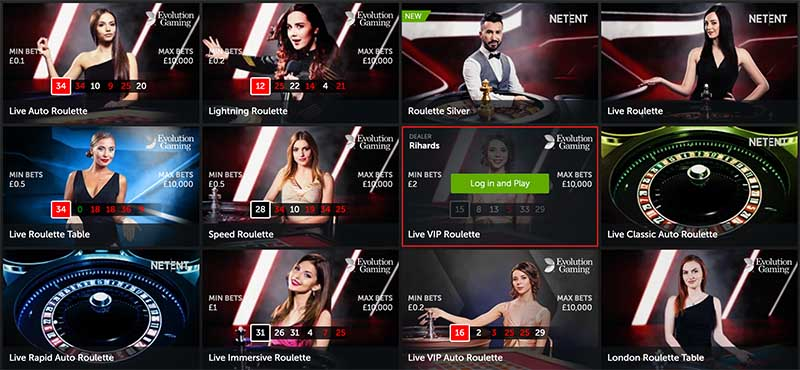 Betsafe has a great live casino offering