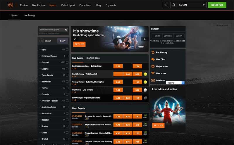 Casino Winner sports betting review