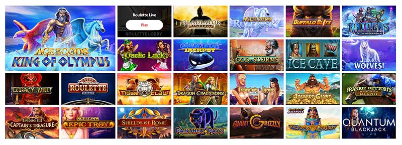 Mansion Casino games review