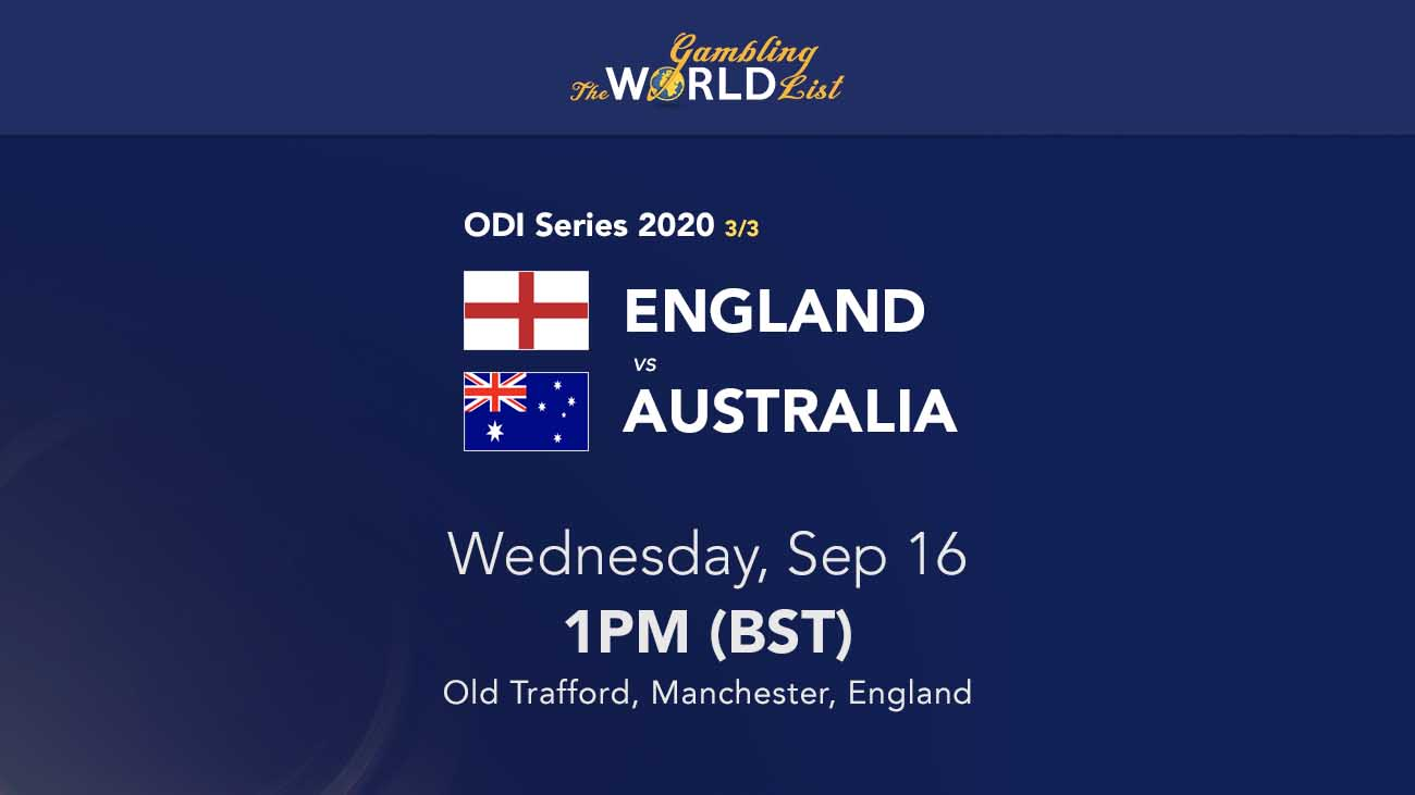 Eng v Aus betting tips, prediction and odds; 3rd ODI preview 16/9