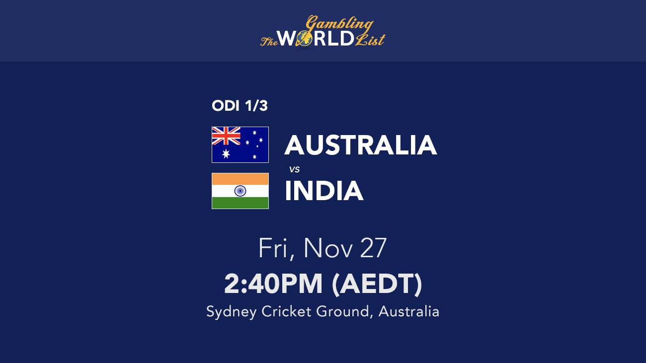 Australia v India ODI, SCG