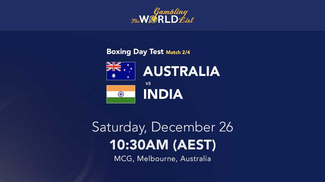 Tip Australia v India untuk Tes Hari Tinju 2020