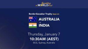Australia v India 3rd Test tips and winner prediction; Border