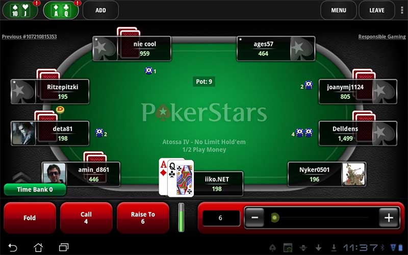 Online poker at Pokerstars is exceptionally popular.