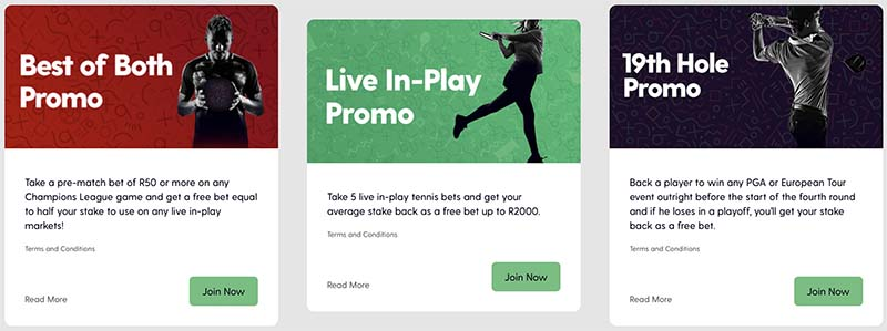 Bet.co.za bonus code offers for South Africa