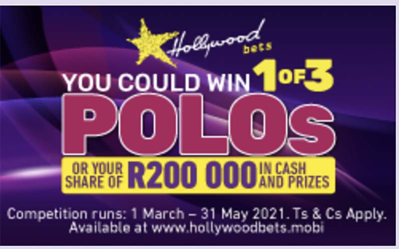 HollywoodBets soccer promotion - win one of three polo vivo cars